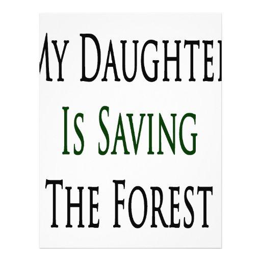 Mi hija está ahorrando el bosque flyer a todo color