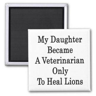 Mi hija hizo veterinario para curar solamente a Li Imán Cuadrado