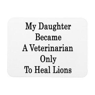 Mi hija hizo veterinario para curar solamente a Li Imán Foto Rectangular