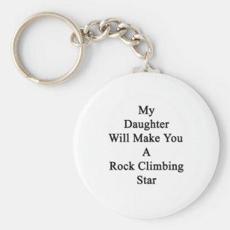 Mi hija le hará una estrella de la escalada llaveros personalizados