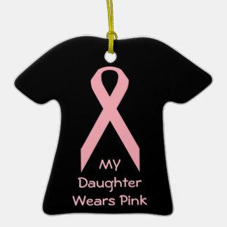 Mi hija lleva rosa ornamentos de navidad