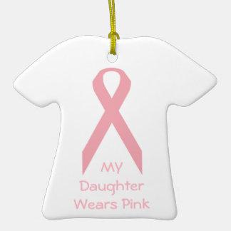 Mi hija lleva rosa adornos de navidad