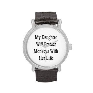 Mi hija protegerá monos con su vida relojes de pulsera