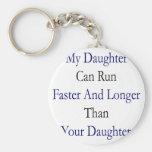 Mi hija puede correr más rápidamente y más de larg llavero