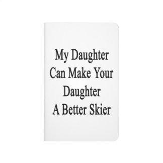 Mi hija puede hacer su hija a un mejor esquiador cuaderno
