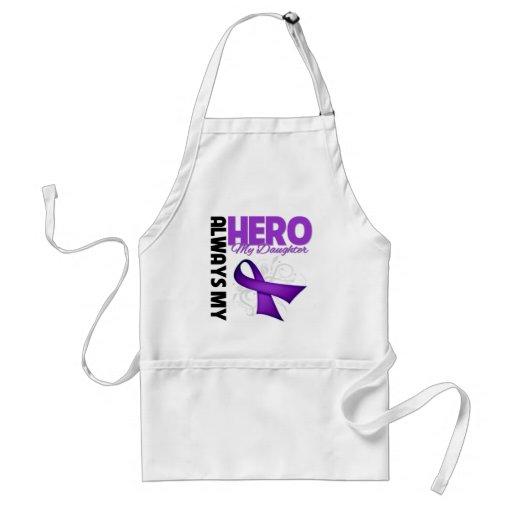 Mi hija siempre mi héroe - cinta púrpura delantal