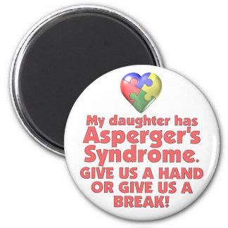Mi hija tiene Asperger Imán Redondo 5 Cm