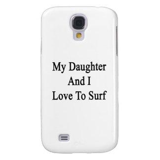Mi hija y yo amamos practicar surf funda para galaxy s4