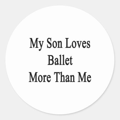 Mi hijo ama ballet más que mí etiquetas redondas