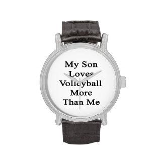 Mi hijo ama voleibol más que mí