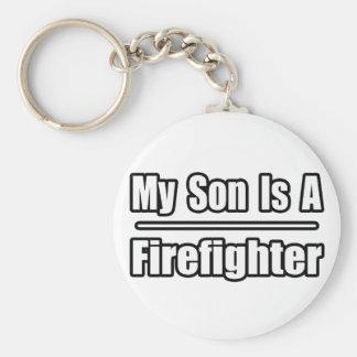 Mi hijo es bombero llavero redondo tipo pin