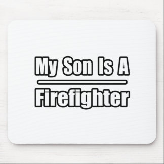 Mi hijo es bombero mouse pads