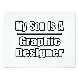 """Mi hijo es diseñador gráfico invitación 4.25"""" x 5.5"""""""