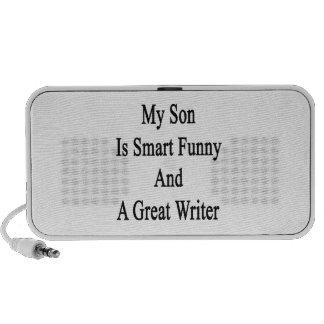 Mi hijo es divertido elegante y gran escritor iPod altavoces