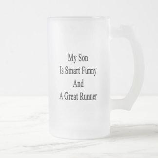 Mi hijo es divertido elegante y un gran corredor taza de café
