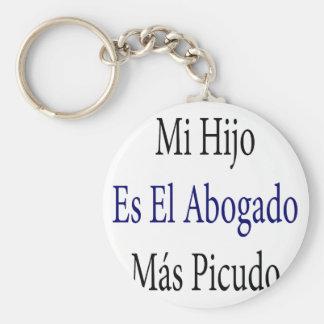 Mi Hijo Es El Abogado Mas Picudo Basic Round Button Keychain