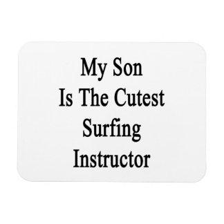 Mi hijo es el instructor que practica surf más lin iman flexible