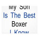 Mi hijo es el mejor boxeador que conozco invitaciones personalizada