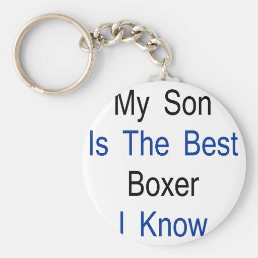 Mi hijo es el mejor boxeador que conozco llaveros