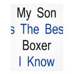 Mi hijo es el mejor boxeador que conozco membretes personalizados