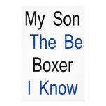 Mi hijo es el mejor boxeador que conozco papeleria de diseño