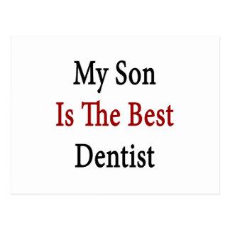 mi hijo es el mejor dentista postal