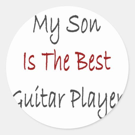 Mi hijo es el mejor guitarrista etiqueta redonda