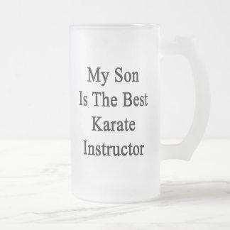 Mi hijo es el mejor instructor del karate taza cristal mate