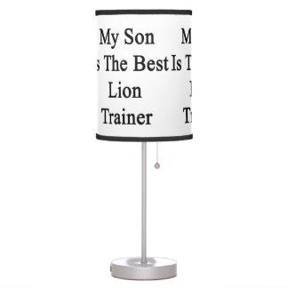 Mi hijo es el mejor instructor del león