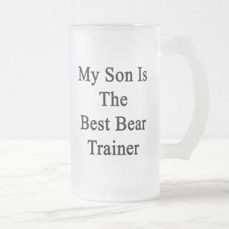 Mi hijo es el mejor instructor del oso tazas de café