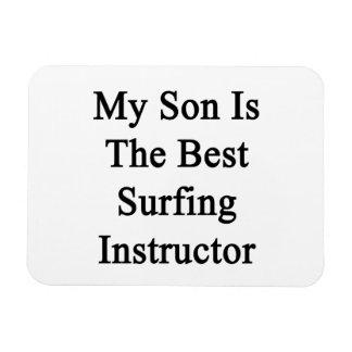 Mi hijo es el mejor instructor que practica surf imanes