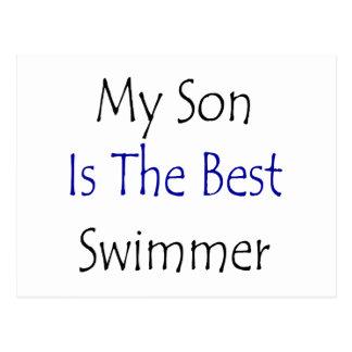 Mi hijo es el mejor nadador postal