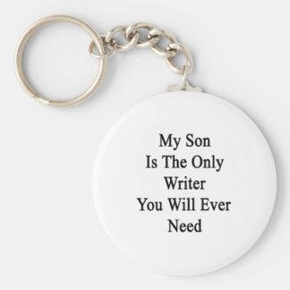 Mi hijo es el único escritor que usted necesitará llaveros personalizados