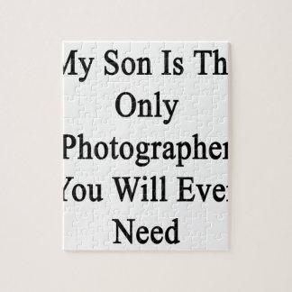Mi hijo es el único fotógrafo que usted necesitará rompecabezas con fotos