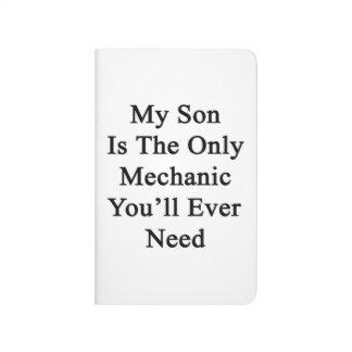 Mi hijo es el único mecánico que usted necesitará cuaderno grapado