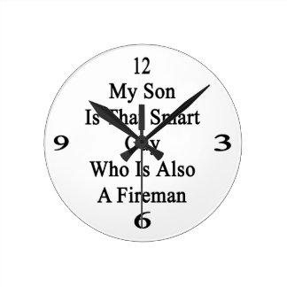 Mi hijo es ese individuo elegante que es también b reloj redondo mediano