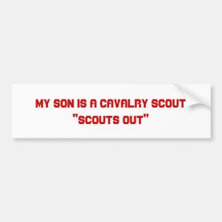 Mi hijo es explorador de la caballería pegatina para auto