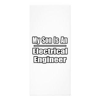 Mi hijo es ingeniero eléctrico tarjeta publicitaria personalizada