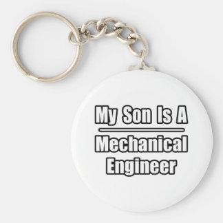 Mi hijo es ingeniero industrial llavero redondo tipo pin