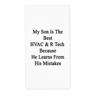 Mi hijo es la mejor tecnología de la HVAC R porque Etiquetas De Envío