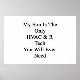 Mi hijo es la única tecnología de la HVAC R que Impresiones
