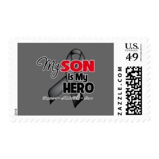 Mi hijo es mi héroe - cáncer de piel sellos