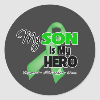 Mi hijo es mi héroe - cáncer del riñón pegatina redonda