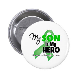 Mi hijo es mi héroe - cáncer del riñón pin redondo de 2 pulgadas
