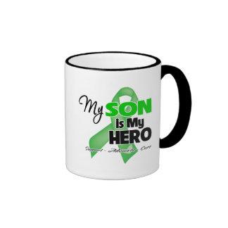 Mi hijo es mi héroe - cáncer del riñón taza de dos colores