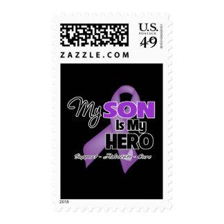 Mi hijo es mi héroe - cinta púrpura sellos