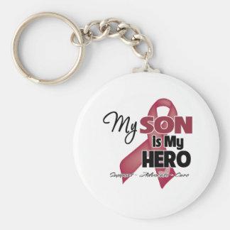 Mi hijo es mi héroe - mieloma múltiple llaveros personalizados