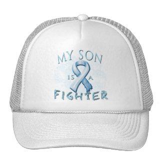 Mi hijo es un combatiente azul claro gorra
