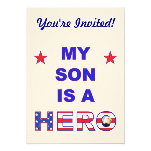 Mi hijo es un héroe invitación
