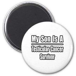 Mi hijo es un superviviente del cáncer testicular imán redondo 5 cm